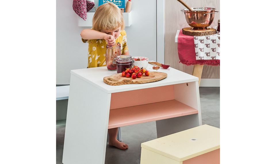 Tabouret Tuli by VOX yellow/pink