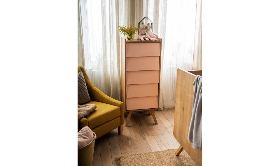 Dresser with 5-drawers Vinatge white